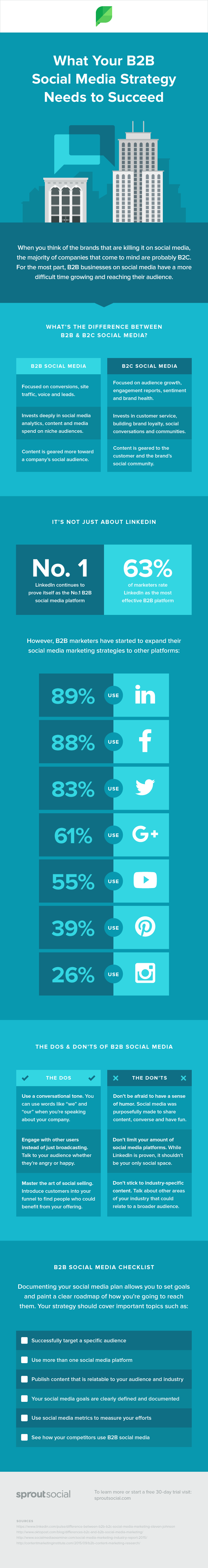 Infographic – What Your B2B Social Media Strategy Needs to Succeed