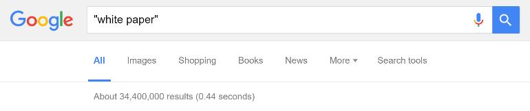 White Paper Google Search Results