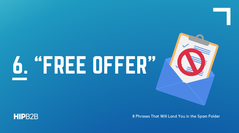 6. Free offer