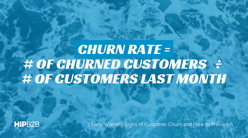 Churn Rate = # of Churned Customers / # of Customers Last Month