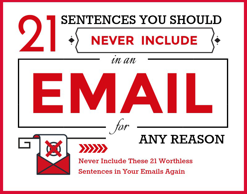 Sentences not to use in email cover