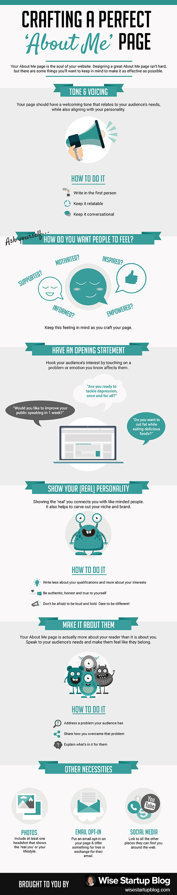 Infographic – Crafting a Perfect 'About Me' Page