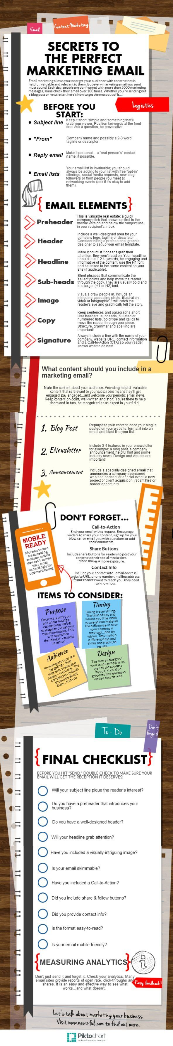 Infographic – Secrets to the Perfect Marketing Email
