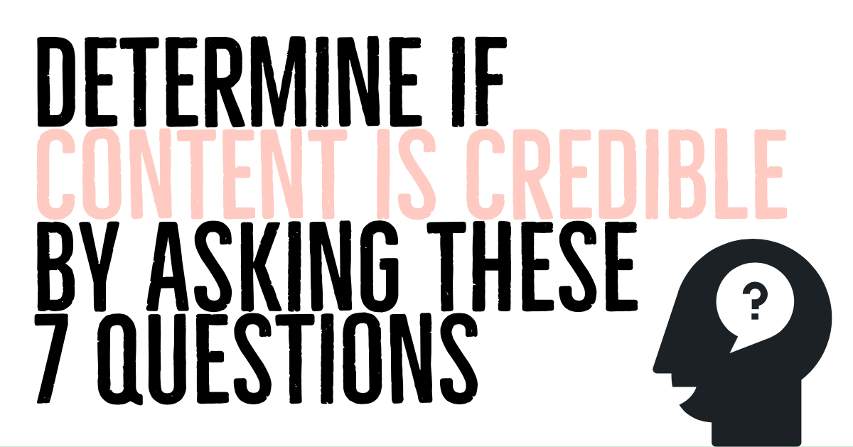 determine if content is credible
