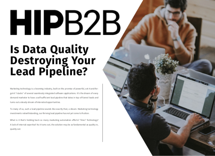 Is Data Quality Destroying Your Lead Pipeline