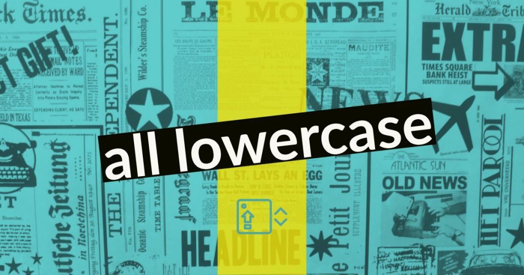 all lowercase