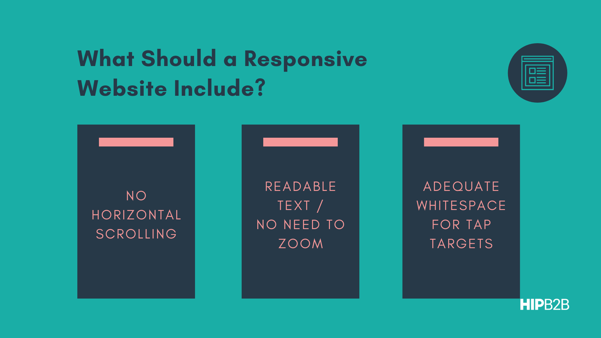 What Should a Responsive Website Include?